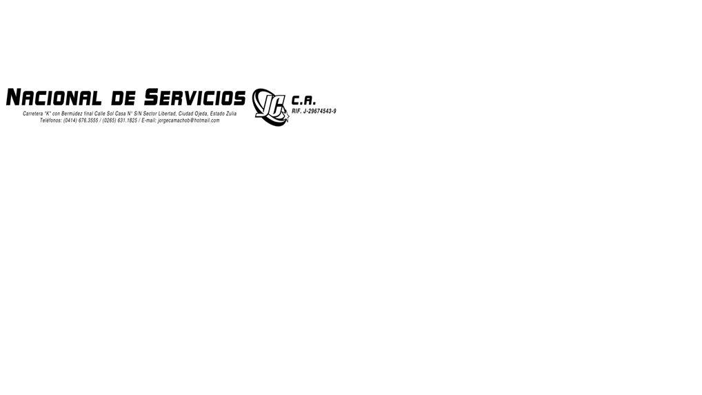 nacional de servicios jc c,a
